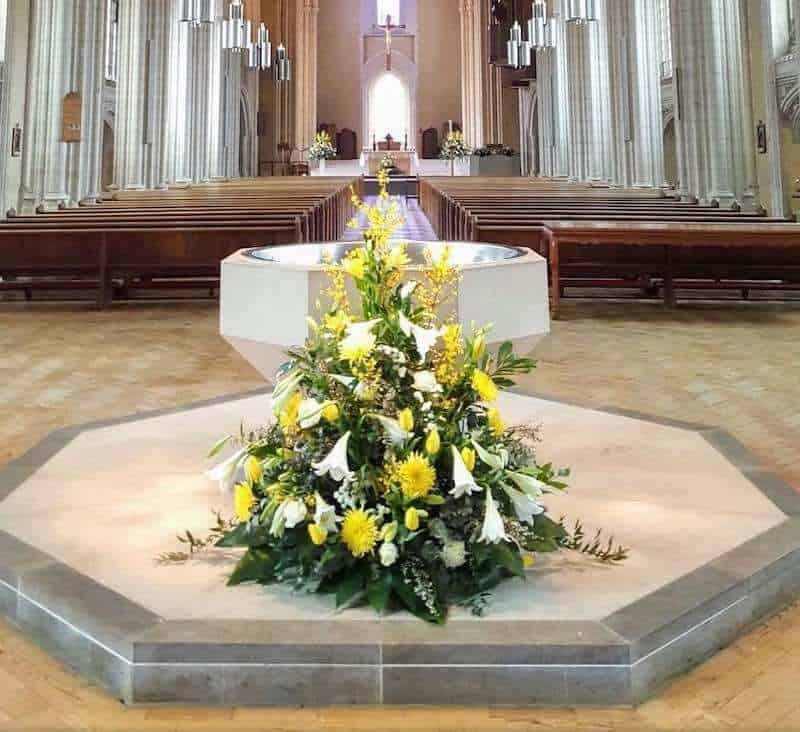 Mass priesthood eucharist priest calling vocation communion Church ealing st Benedict ealing church abbey baptism font baptismal new life