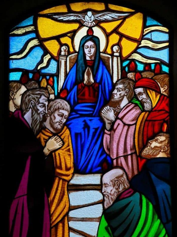 saints Mary pentecost church Holy Spirit upper room
